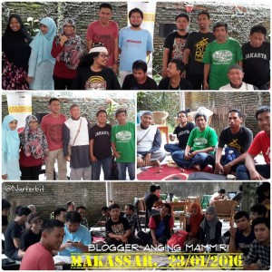 Suasana kopi darat anggota komunitas Makassar (foto: Nur Terbit)