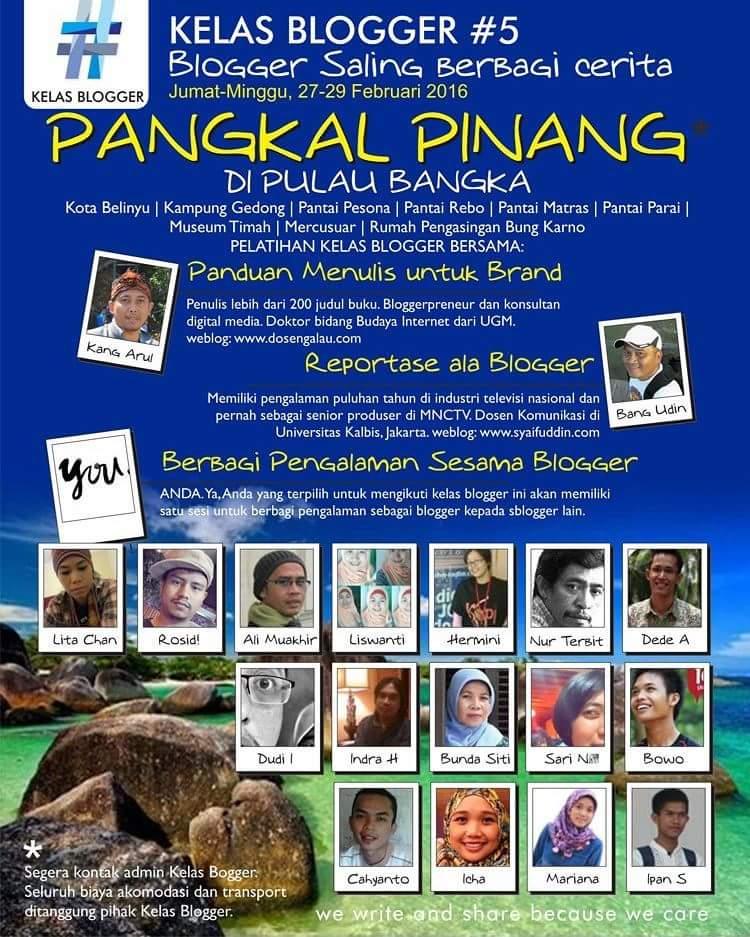 PESONA PANGKALPINANG bersama komunitas blogger dalam bentuk poster (dok Kelas Blogger)