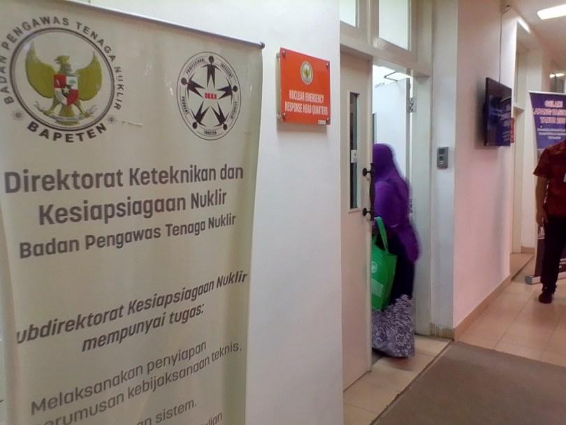 Kawasan gedung Badan Pengawas Tenaga Nuklir (Bapeten) di Jakarta (foto : Nur Terbit)