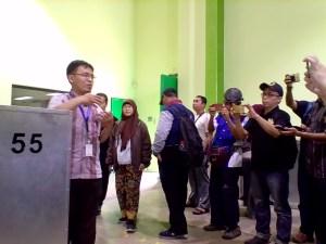 Fasilitas Iradiator untuk mendeteksi apakah makanan terkontaminasi radiasi nuklir di kawasan Badan Tenaga Nuklir Nasional (BATAN) di Serpong, Tangerang, Banten (foto : Nur Terbit)