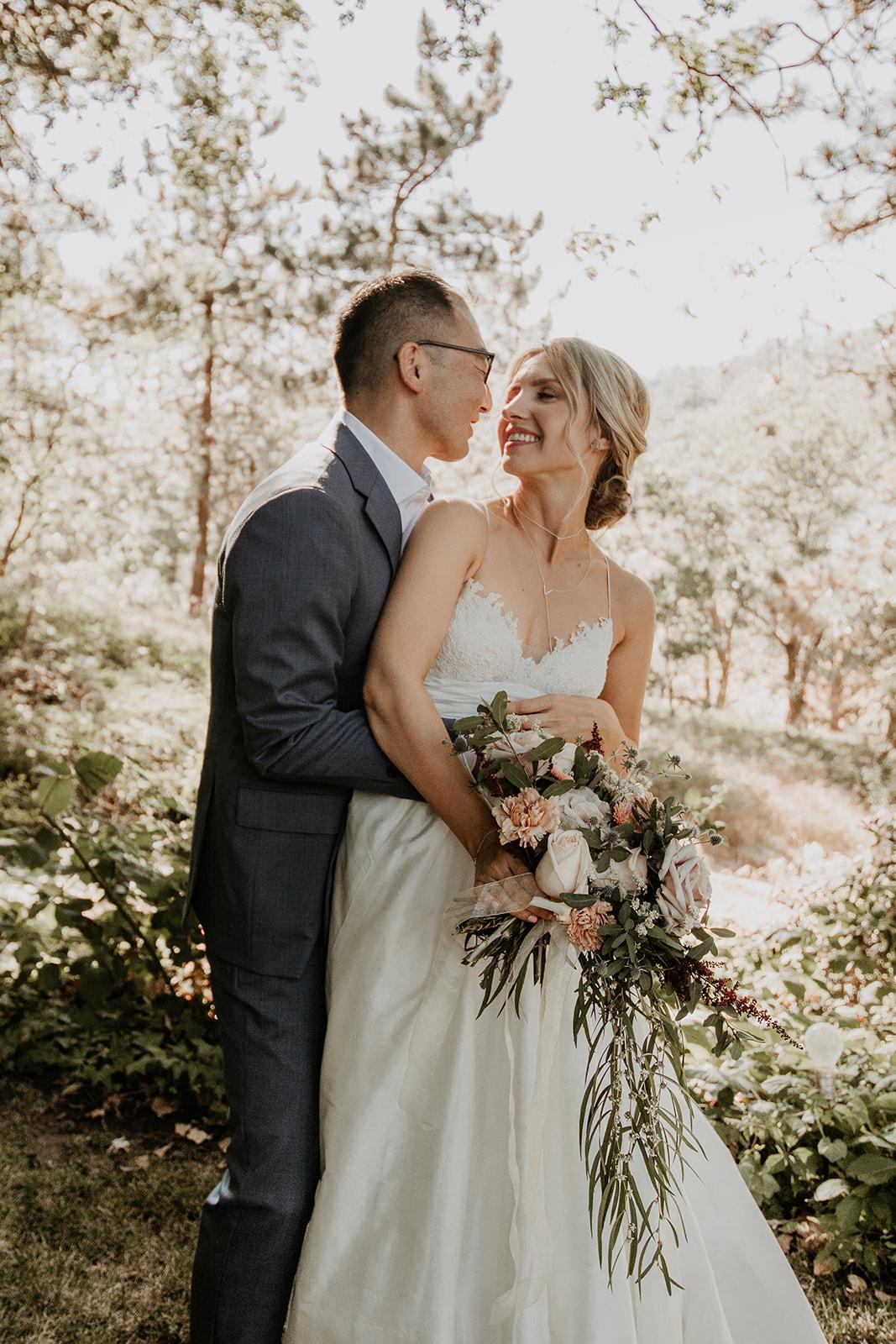 With Flourish Wedding Flowers - Rustic Blush Wedding