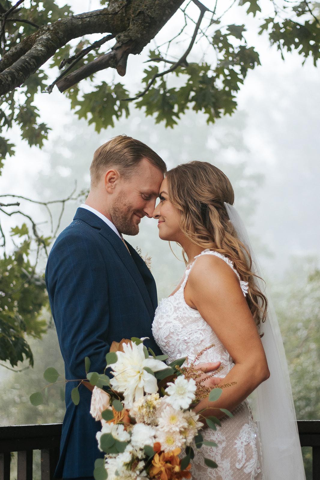 Elegant White to Rust Wedding