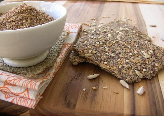 Crispy Flax Crackers