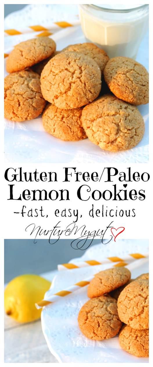 Gluten Free Paleo Lemon Cookies