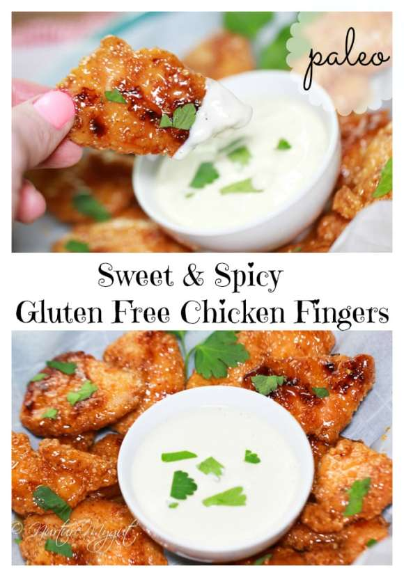 sweet and spicy gluten free chicken fingers