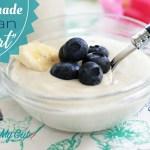 Homemade Vegan Yogurt-No Yogurt Maker Required