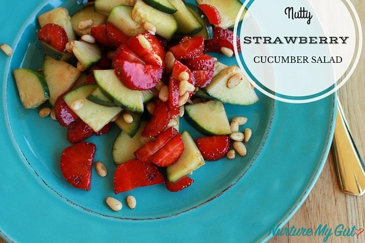 Nutty Strawberry Cucumber Salad
