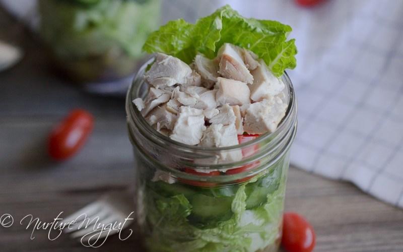 Paleo Greek Mason Jar Salad {Dairy Free}