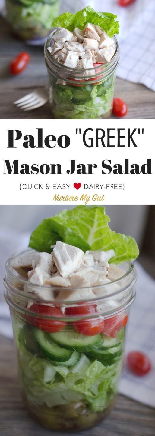 Paleo Greek Majon Jar Salad Recipe