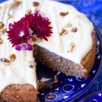 Gluten Free Banana Spice Cake with Vegan Cream Cheese Frosting