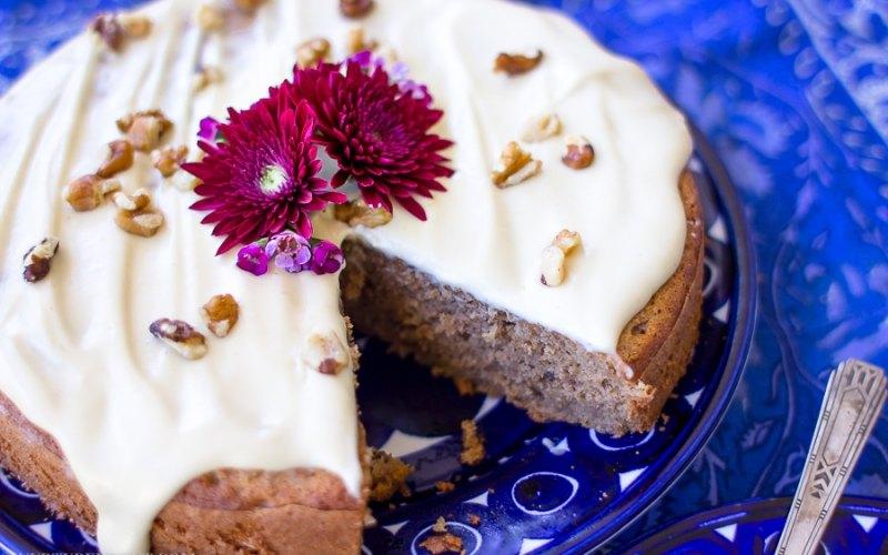 Gluten Free Banana Spice Cake w/Vegan Cream Cheese