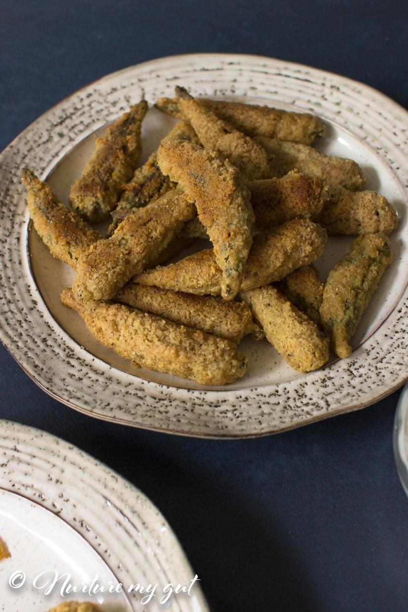 Crispy Oven Fried Okra Recipe