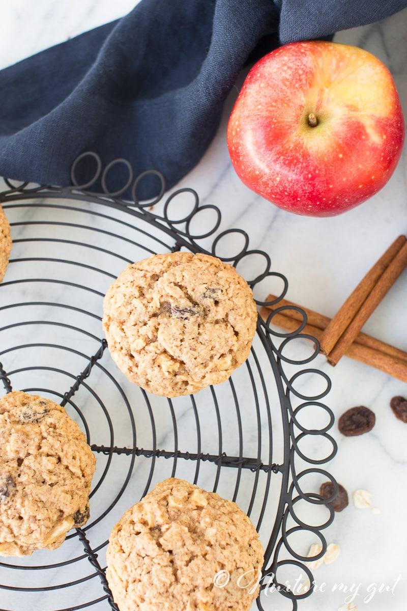 Gluten Free Apple Cinnamon Oatmeal Cookies