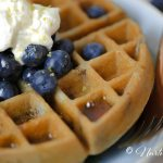 Gluten Free Wild Blueberry Lemon Waffles-