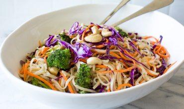 large bowl of vegan gluten free noodles