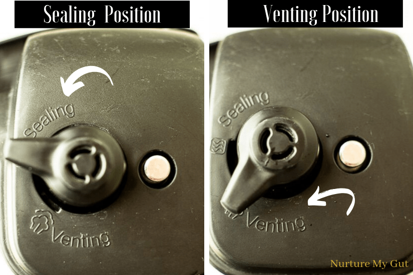 sealing and venting position for the instant pot