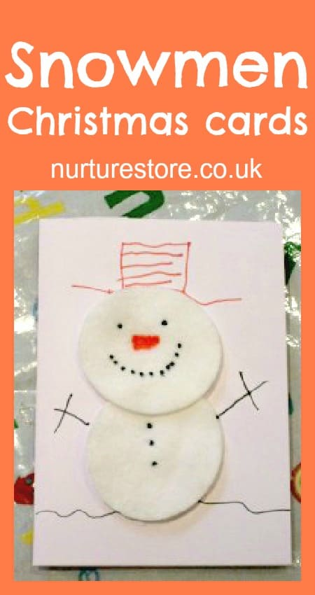 Christmas Snowman Cotton Wool Thank You Cards NurtureStore
