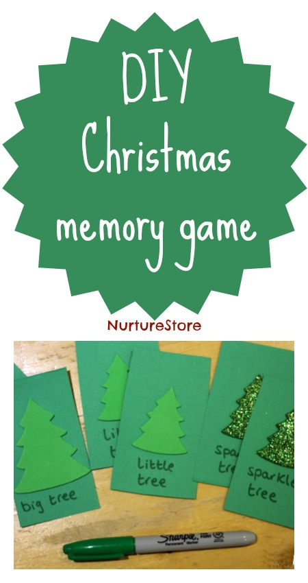 DIY Christmas Memory Game NurtureStore