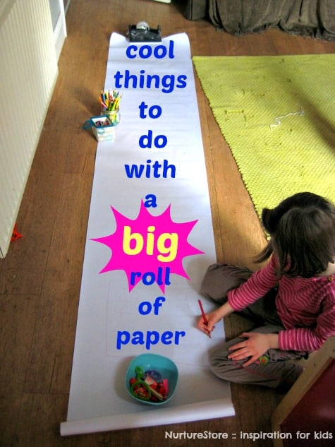 Cool things to do with a big roll of paper  NurtureStore