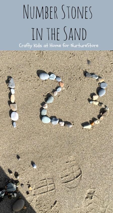 Number Stones math activity at the beach  NurtureStore