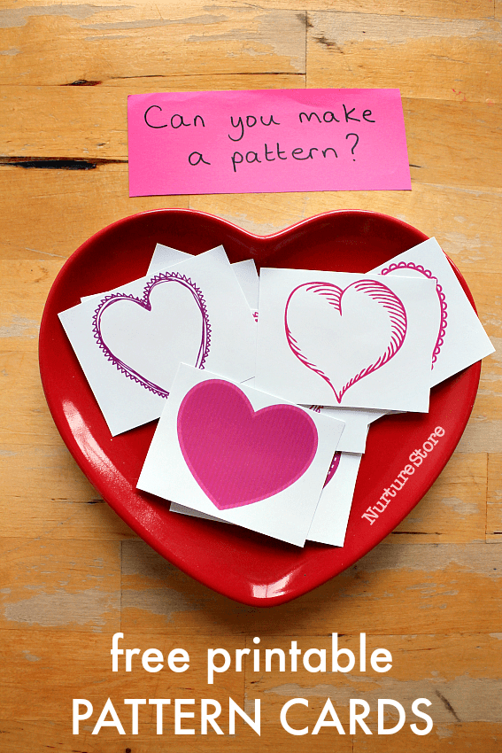 valentine pattern matching cards