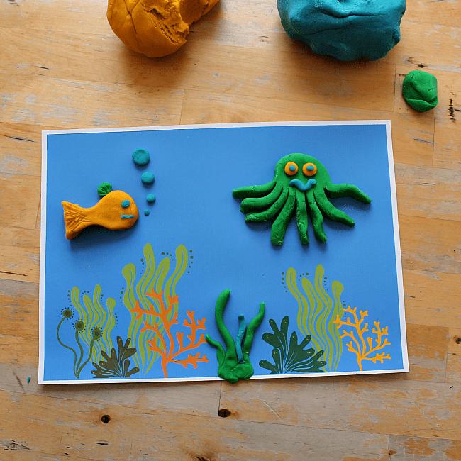 Under The Sea Play Dough Play Mat Printable NurtureStore
