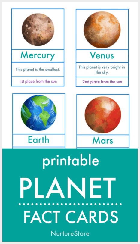 Printable Planet Pictures : printable, planet, pictures, Planets, Facts, Children, Printable, NurtureStore