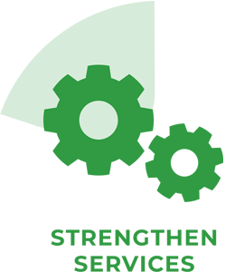 Strengthen services icon.