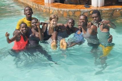 Schwimmen mit den Kindern