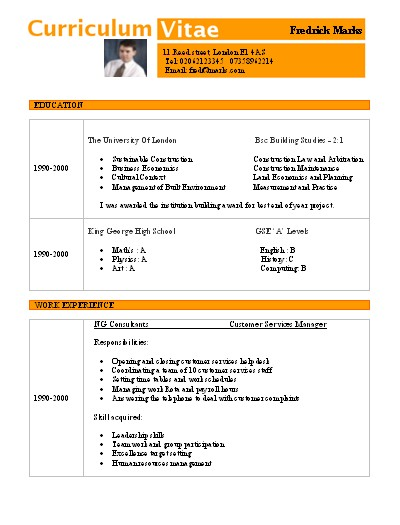Modelos De Curriculum Vitae En Word Para Completar Cv Curriculum15