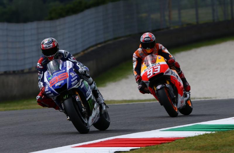 Duel keren Lorenzo vs Maarques MotoGP Mugello Italia 2014