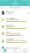 Hari ke Tiga bersama FitBit Force