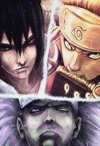 Sementara itu, Sasuke Naruto dan Rikudō Madara