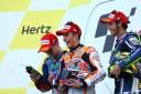 Jorge, Marc dan Rossi Selebrasi Podium Silverstone MotoGP 2014