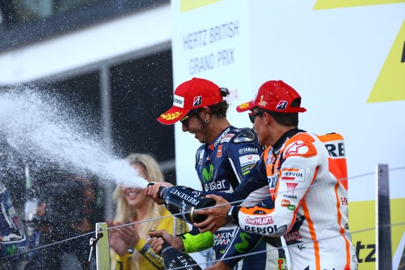 Rossi dan Marc Selebrasi Silverstone MotoGP 2014