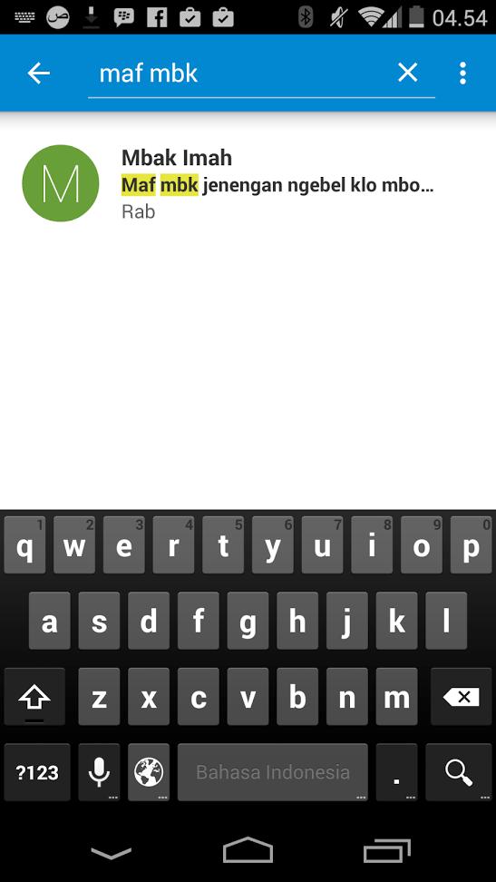 Inilah Hasil Pencarian di Messenger dari Google Android 5 Lolipop