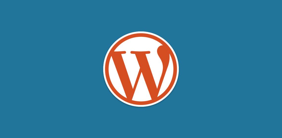 Logo WordPress Latar Biru Warna Orange