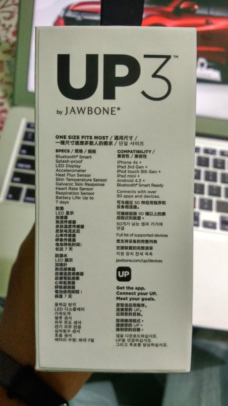 Data Jawbone UP3 Unboxing Indonesia