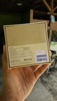 Sisi belakang Box Mi Band Indonesia