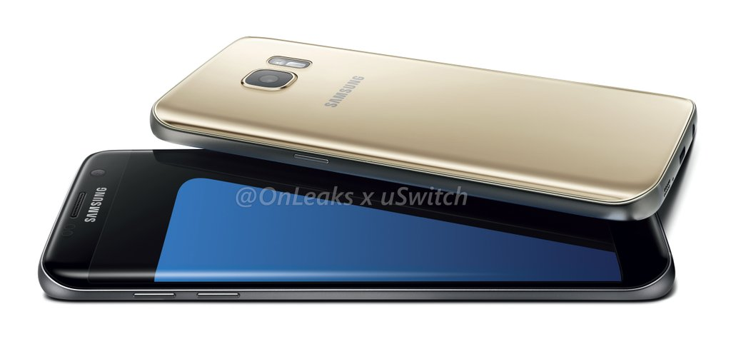 Samsung Galaxy S7 Gold and Black