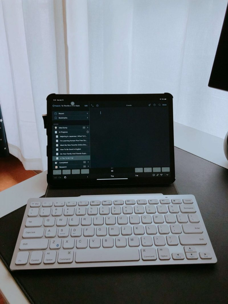Blogging-iPad-Pro-Bluetooth-Keyboard