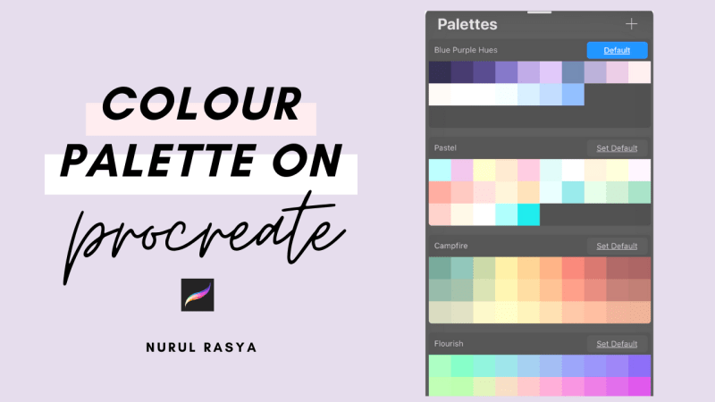 How To Create Colour Palette On Procreate