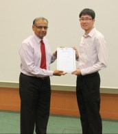 AIChE SLS Service Awards - Mr. Terence Tan, President, AIChE NUS Student Chapter, 2014-2015