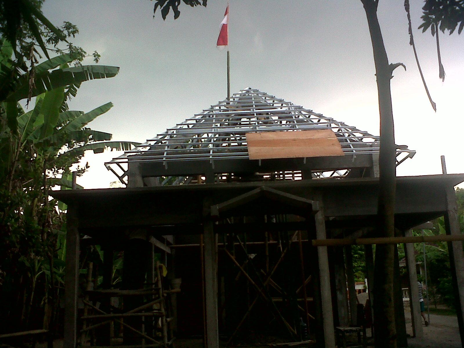 pasang atap baja ringan cianjur project rangka galvalum di bangsal ...