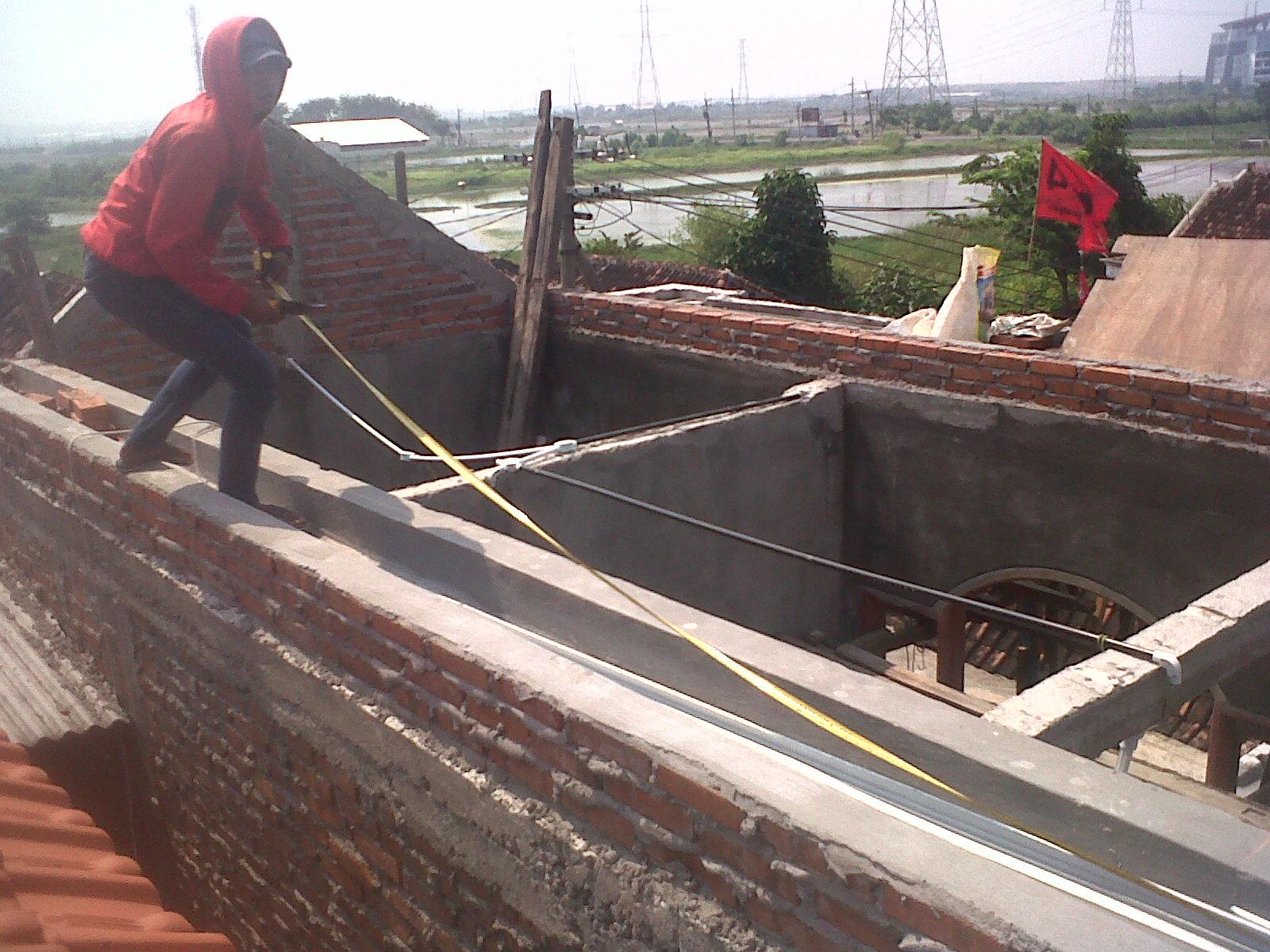 pasang atap baja ringan bekasi project rangka galvalum di sumber rejo ...