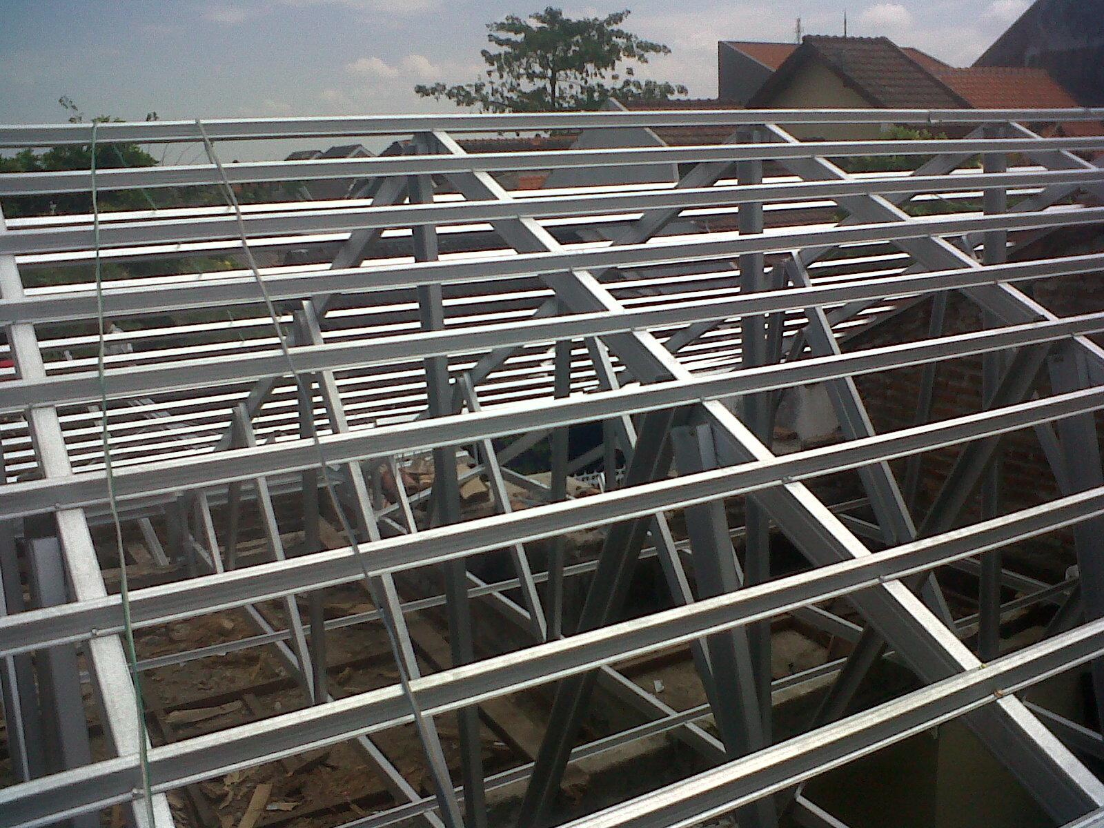 pasang atap baja ringan cianjur project rangka galvalum di bluru kidul ...