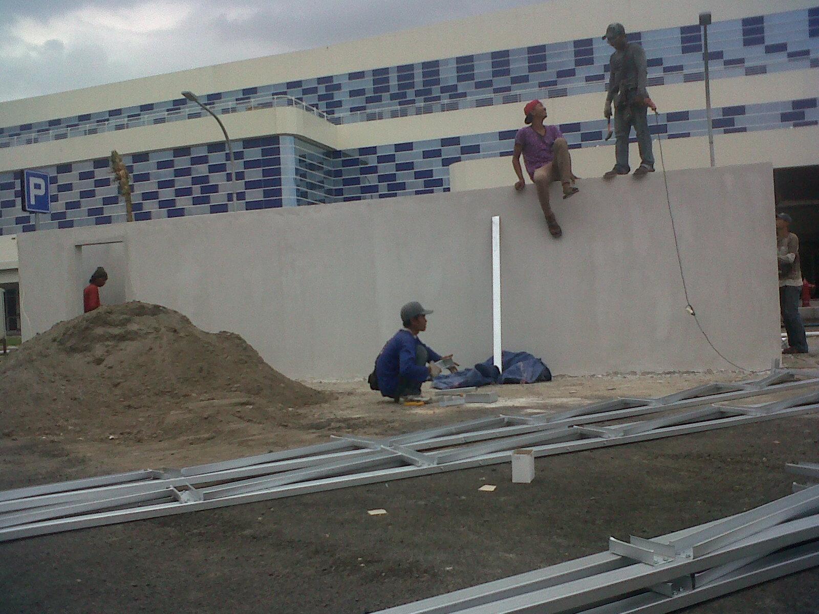 pasang atap baja ringan cianjur project rangka galvalum di gapura surya ...