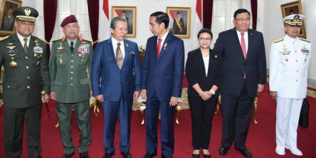 Pertemuan trilateral Indonesia, Filipina dan Malaysia di Gedung Agung, Yogyakarta, Kamis (5/5)/Foto: Istimewa