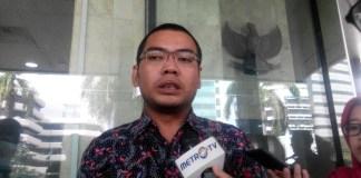 Kepala Bagian Pemberitaan dan Publikasi KPK, Priharsa Nugraha di Gedung KPK, Jakarta Selatan, Jumat, (15/7/2016)/Foto: Nusantaranews/Rere Ardiansah
