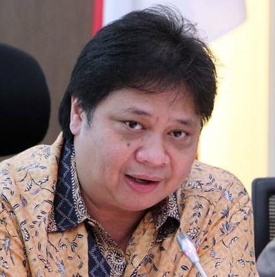 Menteri Perindustrian Airlangga Hartarto/Foto via Sindonews